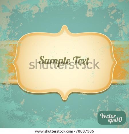Invitation frame (vintage card) - stock vector