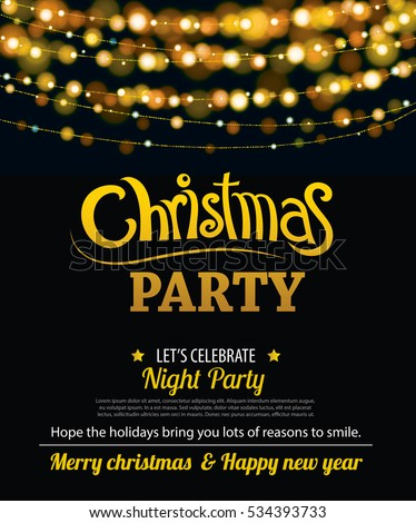 Invitation merry christmas party poster banner stock vector royalty invitation merry christmas party poster banner and card design template happy holiday and new year stopboris Gallery