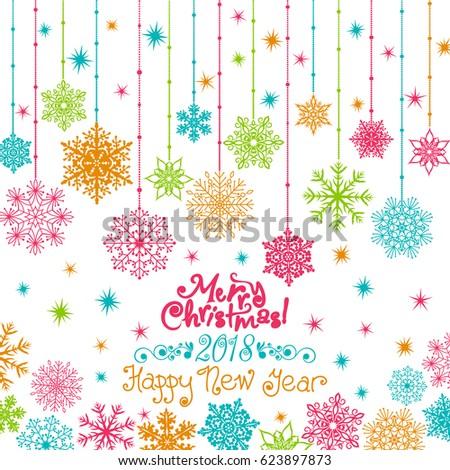 Invitation new years christmas card snowflakes stock vector invitation new years christmas card snowflakes stars bright glare on the postcard stopboris Choice Image