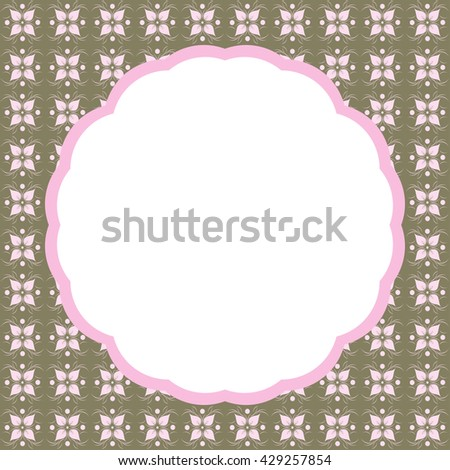 Invitation or Greeting Card - for Wedding, Baby Shower - stock vector