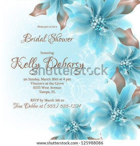 Invitation wedding card abstract floral background stock vector invitation or wedding card with abstract floral background stopboris Gallery