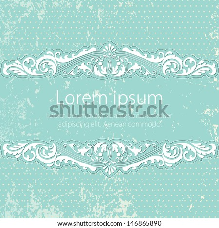 Invitation or wedding card with elegant floral and abstract elements.