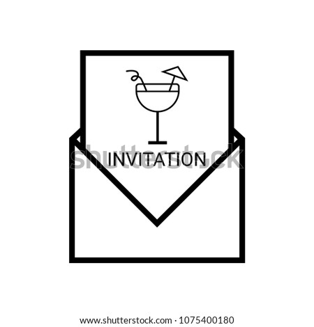 Invitation outline party holiday event celebration food drink stock invitationoutlinerty holiday event celebration food drink in flat design ctor stopboris Gallery