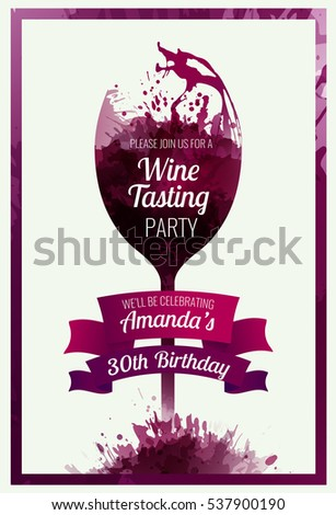 Invitation template event party wine promotion stock vector invitation template for event party or wine promotion suitable for tasting events parties stopboris Choice Image