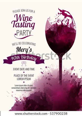 Template Promotions Presentations Wine Events Illustration ...