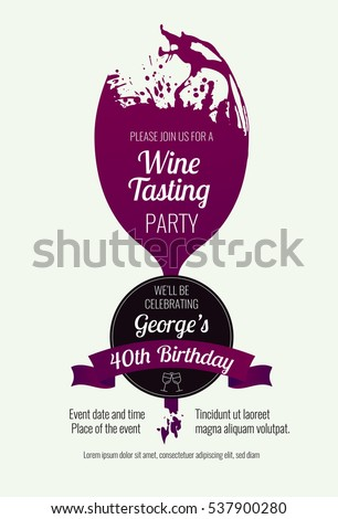 invitation template event party wine promotion stock vector, Presentation templates