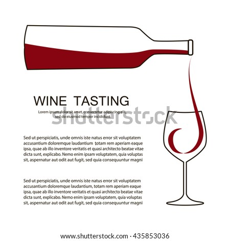 Invitation Template Wine Testing Event Party Stock Vector 435853036