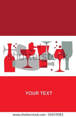 Invitation to cocktail party - stock vector