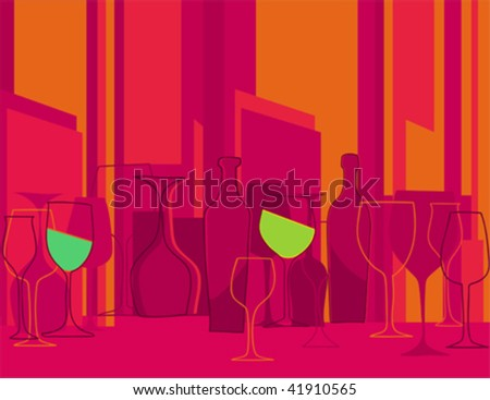 Invitation to cocktail party in retro style - stock vector