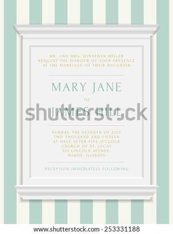 Invitation to the wedding or announcements. Vector vintage frame moldings on rich background in damask style - stock vector