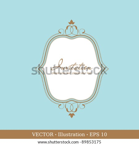 Invitation vintage card. Wedding or Valentine`s Day. Vector illustration - stock vector