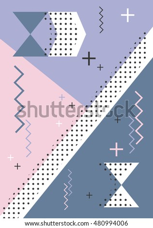 Invitation geometric shapes covers books postcards stock vector invitation with geometric shapes covers for books postcards flyer notebooks cover stopboris Image collections
