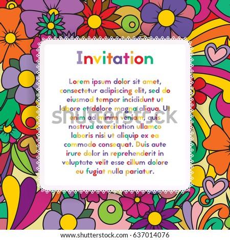 Invitation zentangle floral pattern card zen stock vector invitation with zentangle floral pattern card zen tangle style vector design layout for events stopboris Gallery