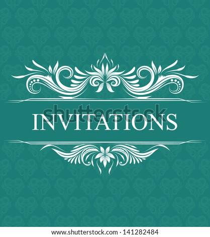 Invitations Wedding Ornamental - stock vector