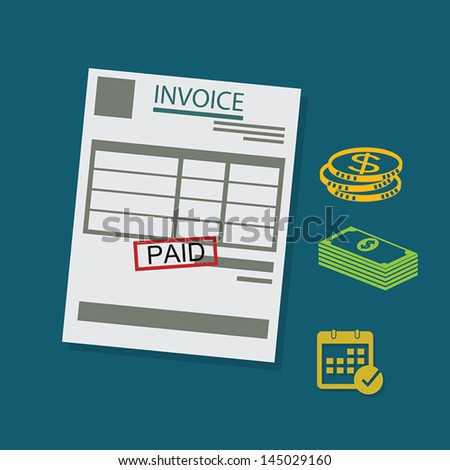 invoice - stock vector