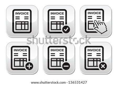 Invoice Example Uk Pdf Invoice Icon Stock Images Royaltyfree Images  Vectors  Membership Invoice Template Excel with Blank Invoice Doc Pdf Invoice Finance Vector Buttons Set Carbonless Invoice Books