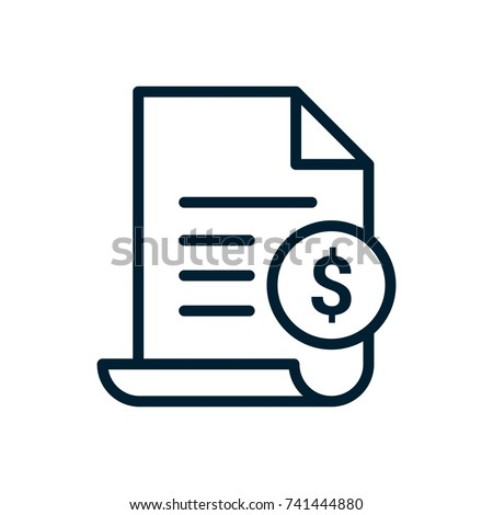 invoice line icon payment bill invoice stock vector royalty free