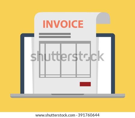 Invoice on line - stock vector