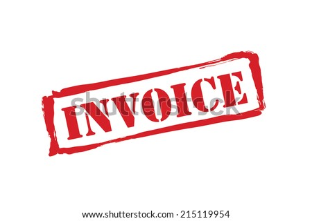 INVOICE red rubber stamp vector over a white background. - stock vector