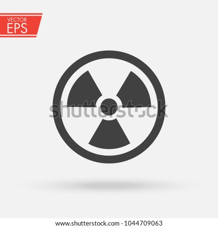 Ionizing Radiation Logo Warning Attention Icon Stock Photo Photo