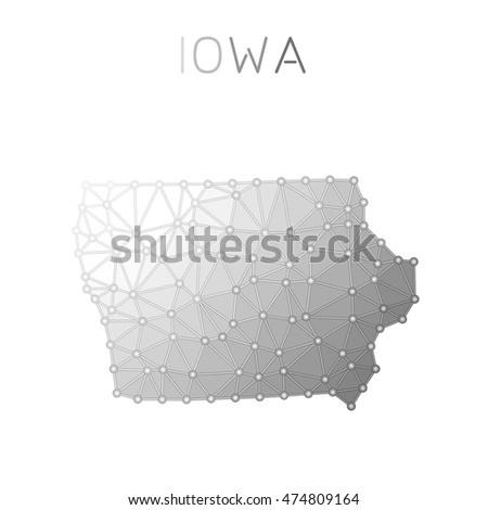 Iowa Region Stock Photos RoyaltyFree Images Vectors Shutterstock - Iowa us map