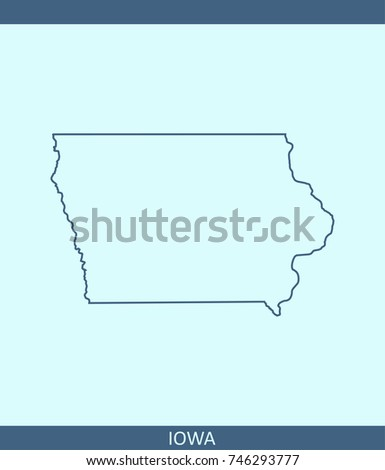 Iowa Outline Stock Images RoyaltyFree Images Vectors - Iowa state in usa map
