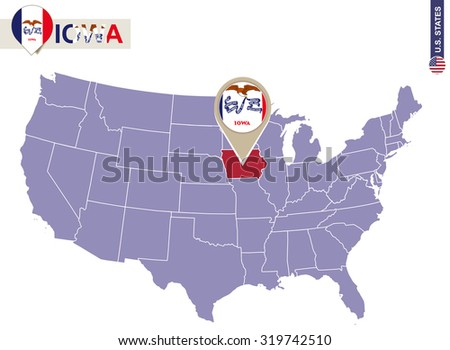 Waterloo Iowa Stock Images RoyaltyFree Images Vectors - Iowa state on a us map
