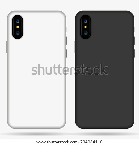 iphone x case mockup template illustration stock vector 794084110