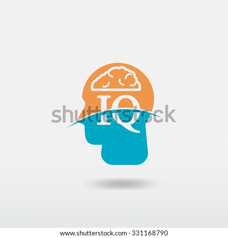 iq icon - stock vector