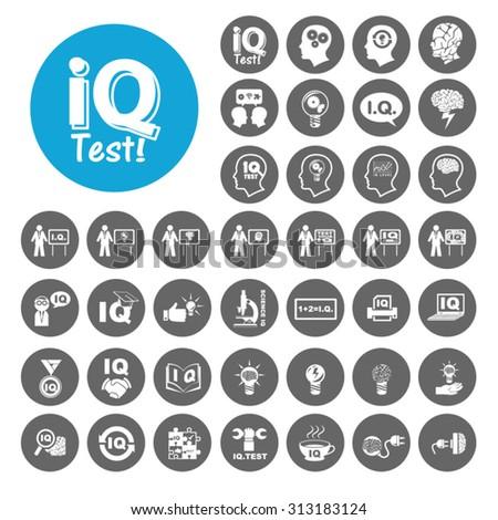 IQ Test icons set. Illustration EPS10 - stock vector
