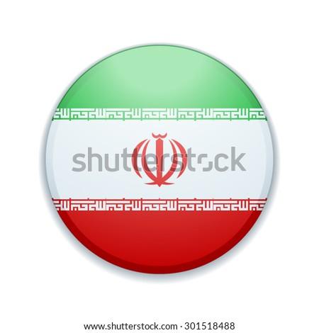 Iran button - stock vector