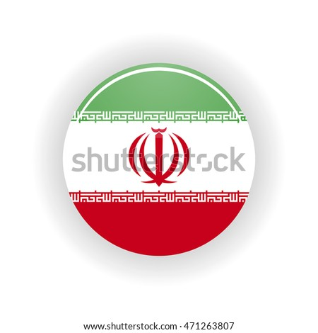 Iran icon circle isolated on white background. Tehran icon vector illustration