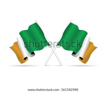 ireland flag - stock vector