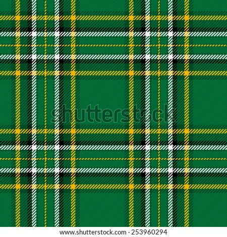 Irish National Tartan. Seamless illustration. - stock vector