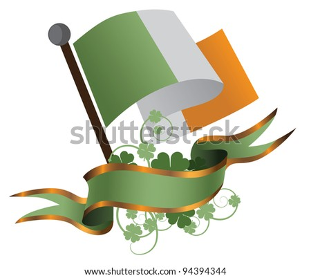 Irish St. Patrick's Day Banner EPS 8 vector, grouped for easy editing. No open shapes or paths. - stock vector