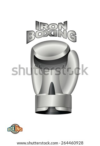 Iron Boxing Glove.  Logo boxing Club. metal cup - stock vector