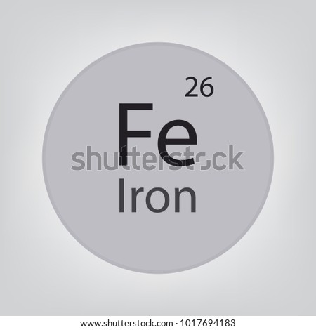 Iron Fe Chemical Element Icon Vector Stock Vector 1017694183