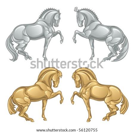 iron horse - stock vector