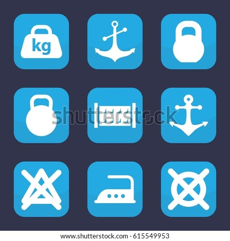 Iron Icon Set 9 Filled Iron Stock Vector 615549953 Shutterstock