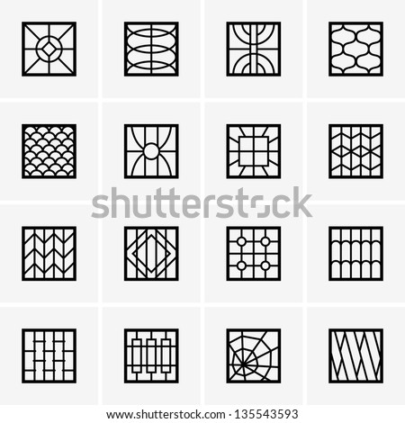 Window grill stock images royalty free images vectors for Modern zen window grills design