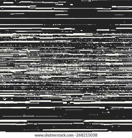 Irregular stripe and spot textured background. Seamless pattern. Vector. - stock vector