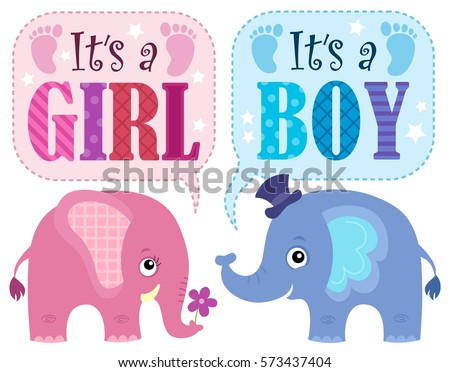 Is it a girl or boy theme 1 - eps10 vector illustration.