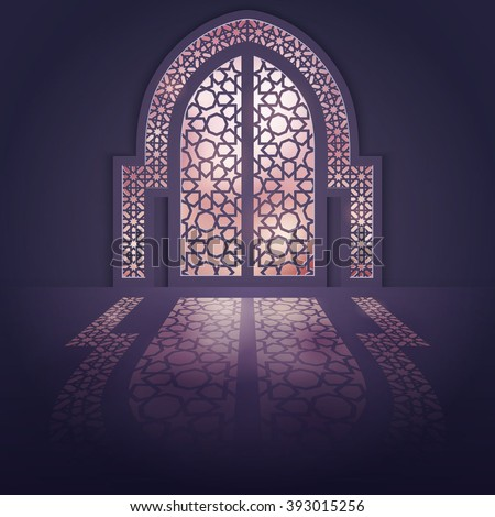 Islamic Design Background Mosque Door Background Stock