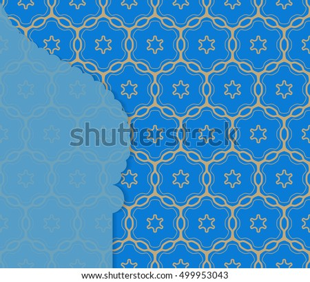 Islamic greeting card template arabic muslim stock vector 499953043 islamic greeting card template arabic muslim background seamless line pattern celebration card for m4hsunfo