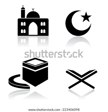 Islamic Icons - stock vector