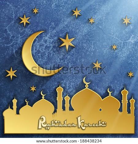 Islamic pattern background, Ramadan Kareem vector background - stock vector