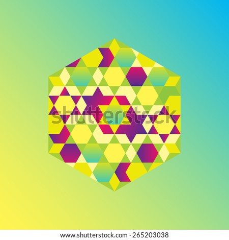 Islamic pattern with contemporary treatment for Hari Raya Aidilfitri - stock vector