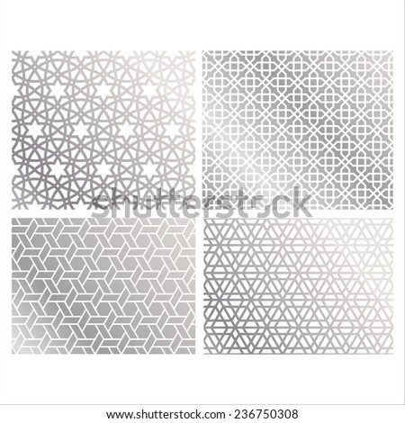 Islamic patterns - stock vector
