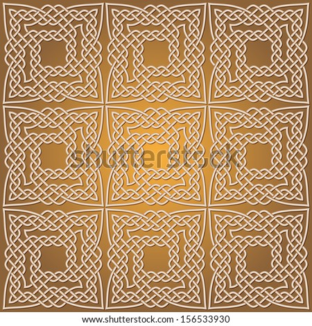 Islamic patterns background - stock vector
