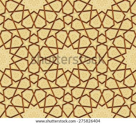 Islamic Star Ornament Background, Vector Illustration - stock vector